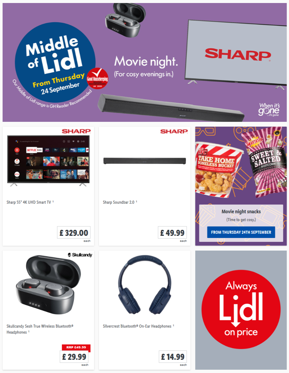 LIDL Offers this Thursday Movie Night From Thursday 24th September 2020