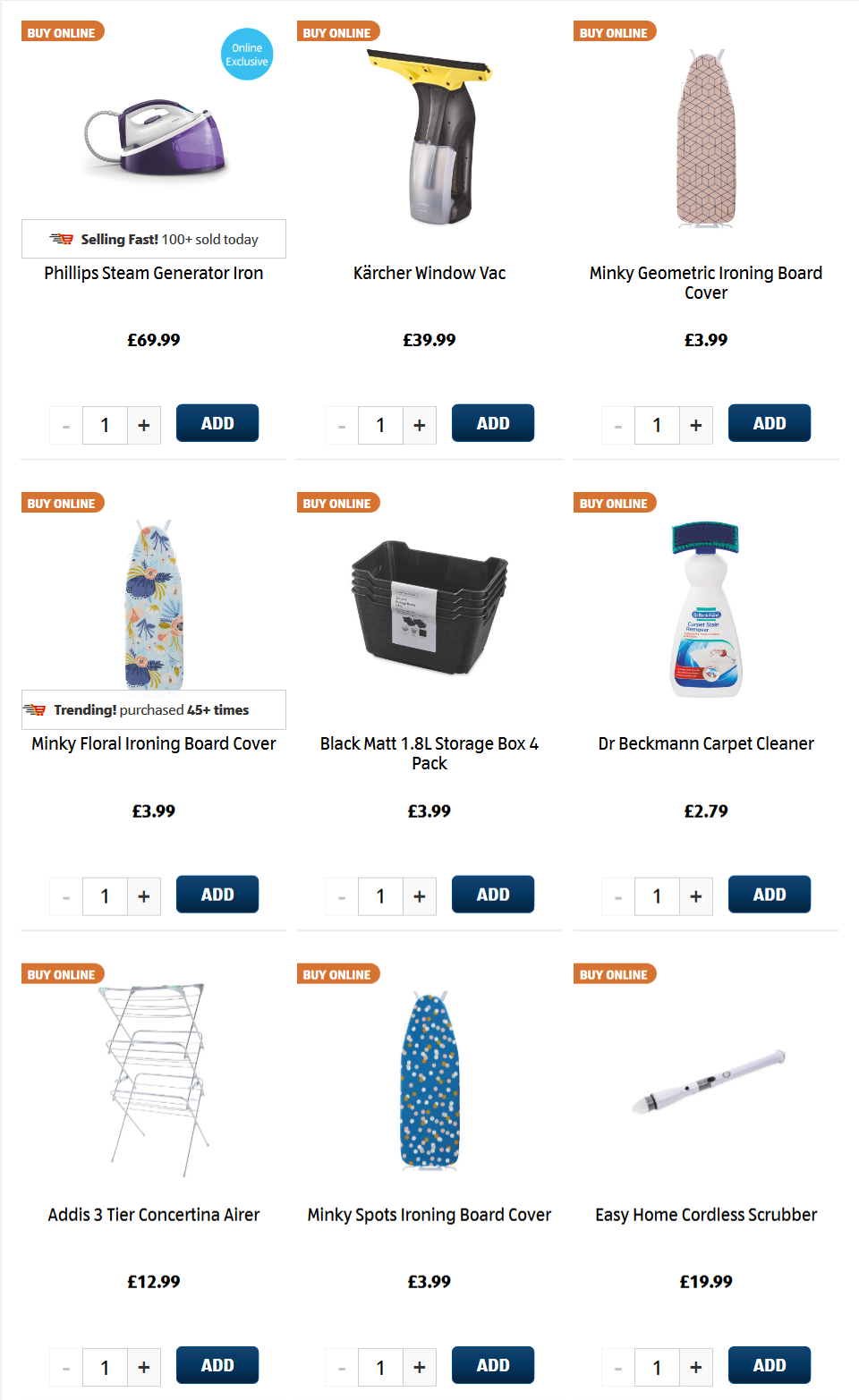 ALDI Sunday Offers 13th September 2020 Special Buy Laundry & Cleaning