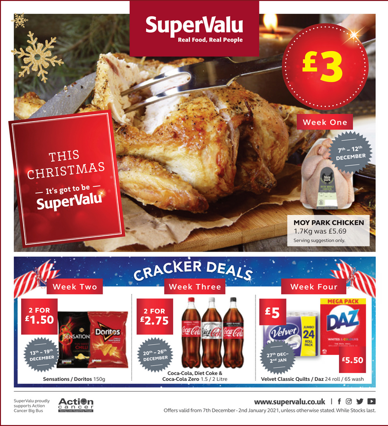 Supervalu Offers 7th December 2020 to 2nd January 2021