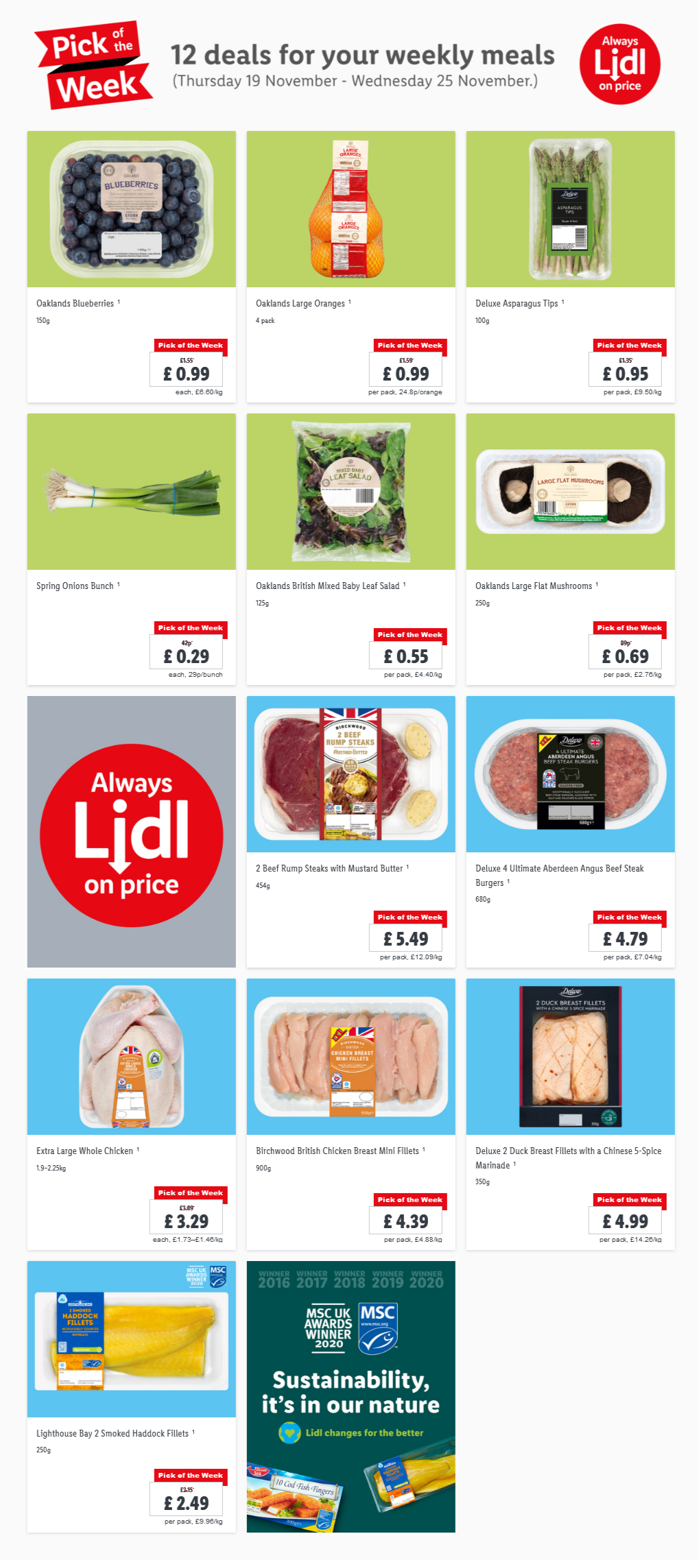 Pick of the week at LIDL 19/11/20-25/11/20