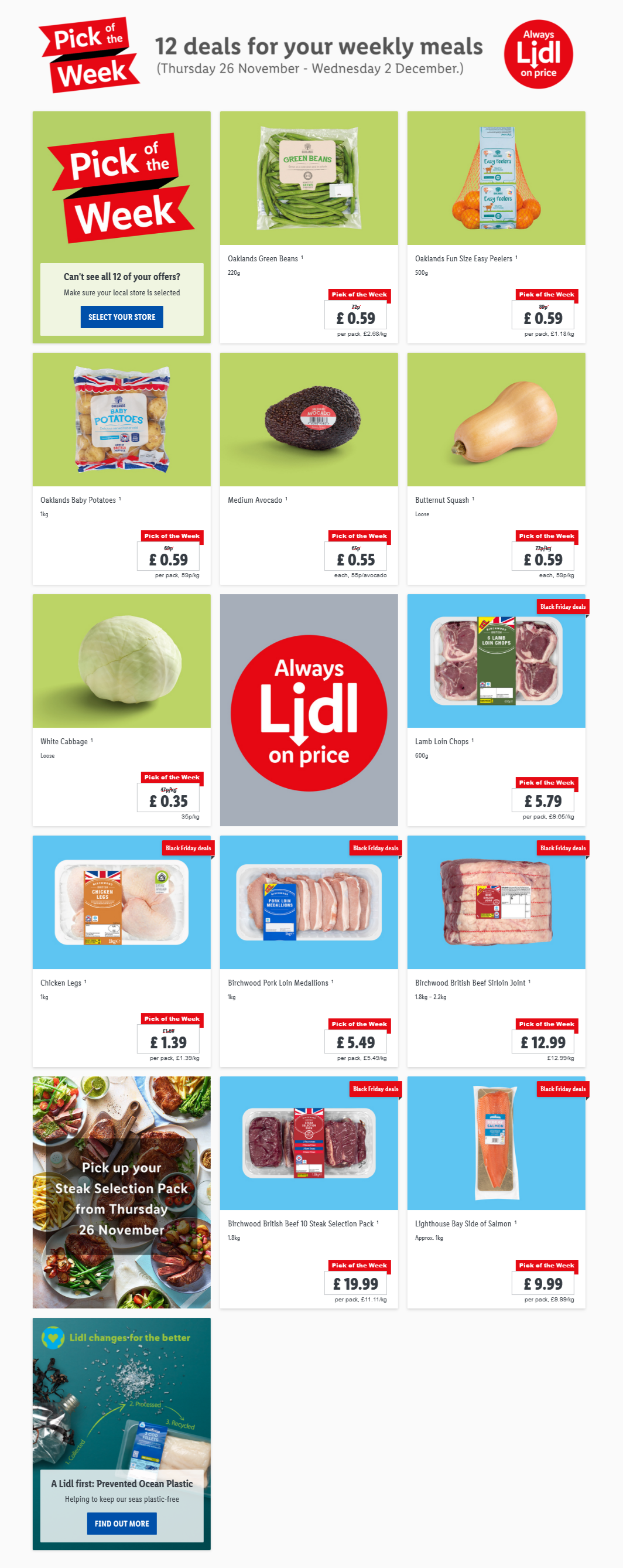 Pick of the week at LIDL 26/11/20-2/12/20 Preview
