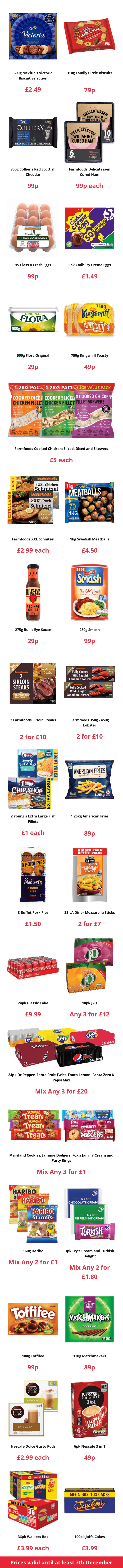 Farmfoods Offers from 25/11/2020 Preview