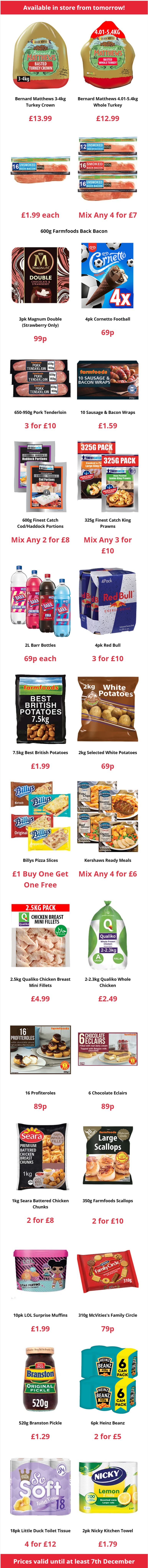 Farmfoods Offers from 27/11/2020 Preview