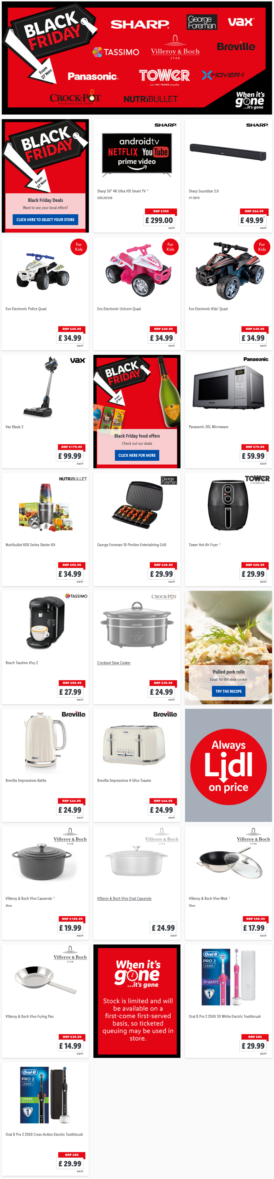 Lidl Black Friday Deals From Friday, 27th November 2020