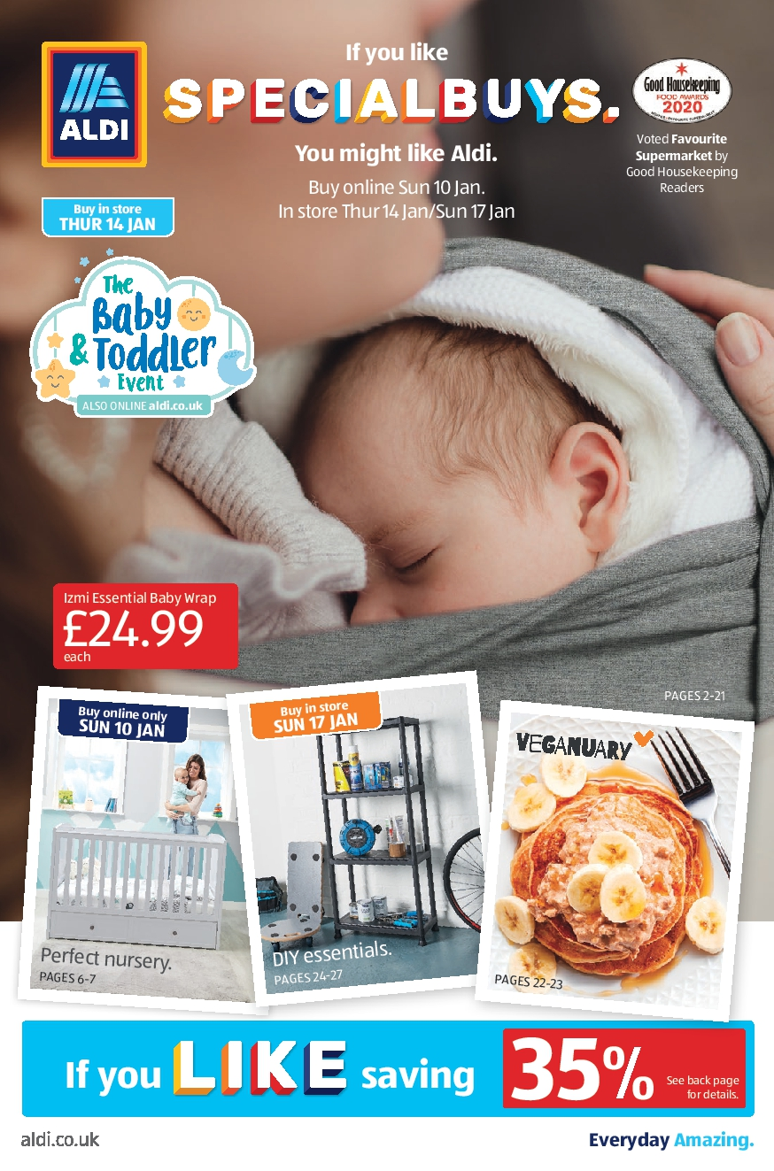 ALDI Specialbuys Leaflet 10th January – 17th January 2021 ALDI Online Shopping Offers