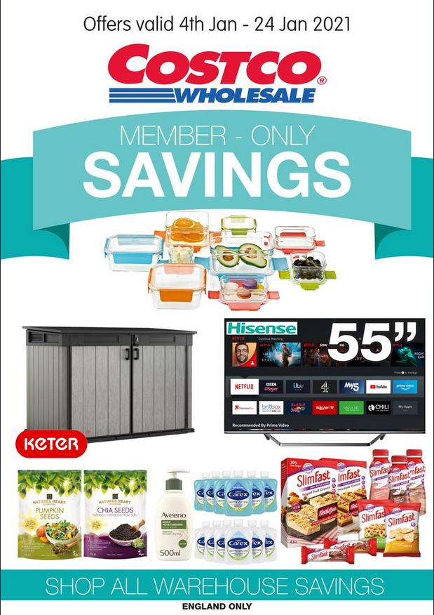 Costco Offers 4th January to 24th January 2021 Costco Online Wholesale