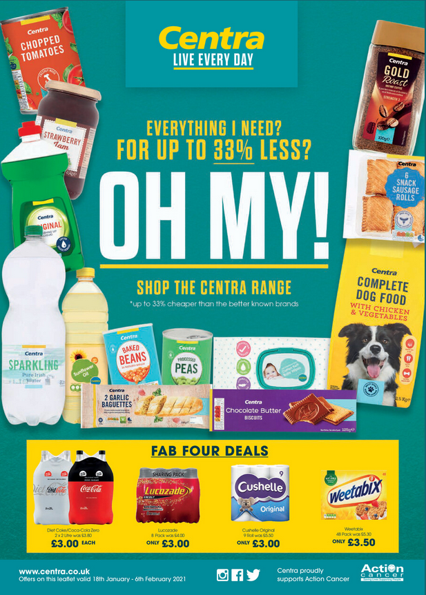 Centra Offers 18th January to 6th February 2021