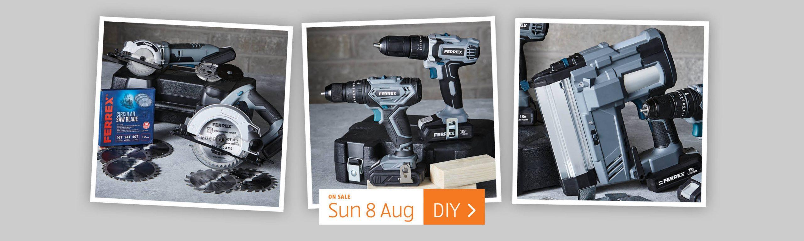 ALDI Sunday Offers 8th August 2021 ALDI DIY Tools