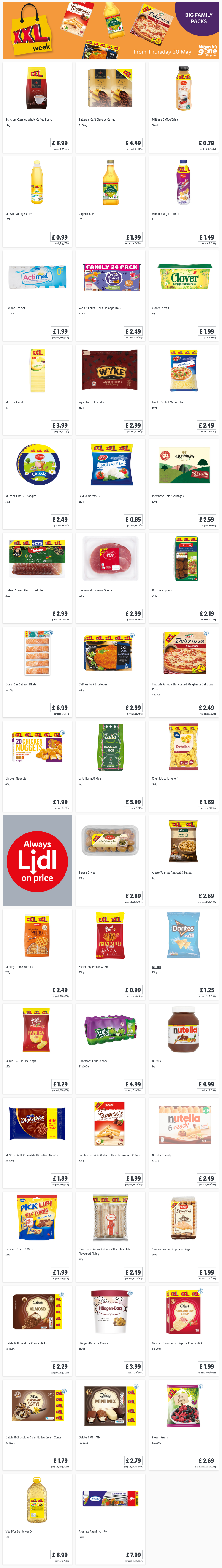 LIDL Offers this Thursday From 20th May 2021 LIDL XXL Week