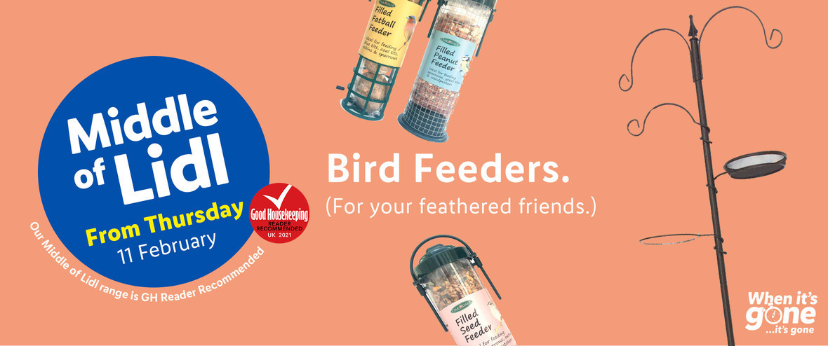 LIDL Offers this Thursday Bird Feeders From 11th February 2021