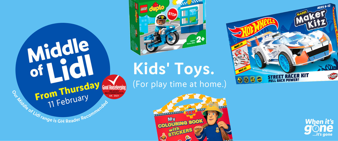 LIDL Offers this Thursday Kids Toys From 11th February 2021