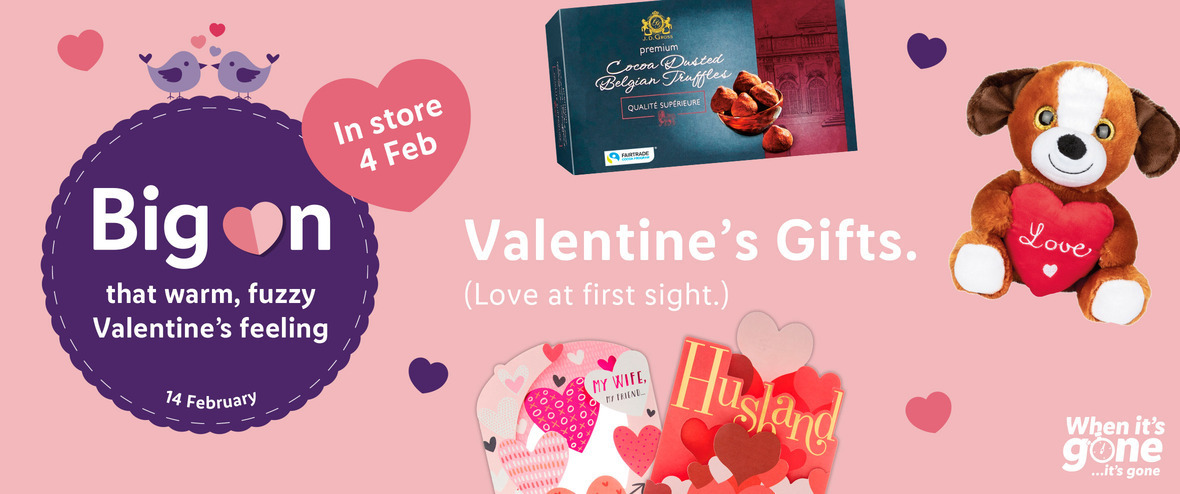 LIDL Offers this Thursday Valentine's Gifts From 4th February 2021