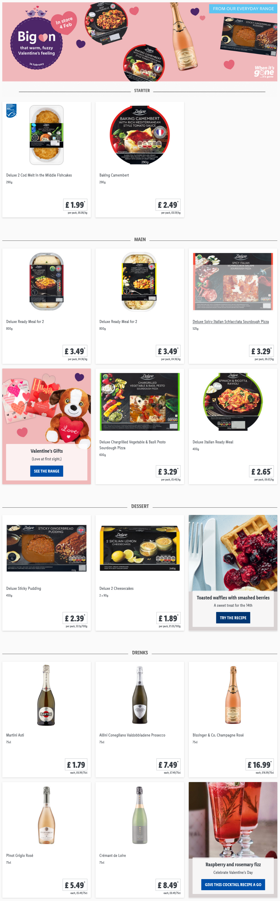 LIDL Offers this Thursday Valentine's Day Food From 4th February 2021