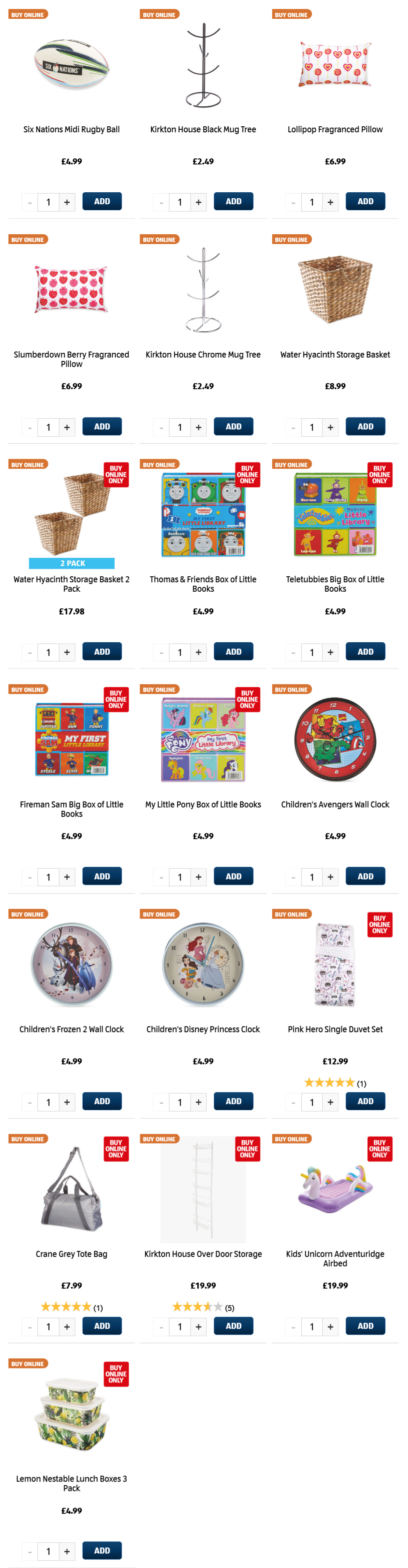 ALDI Thursday Offers 4th February 2021 ALDI Kids Bedroom, Storage, Rugby