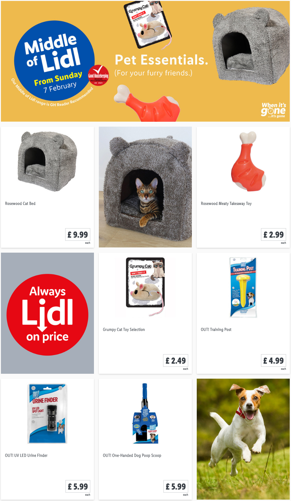 LIDL Sunday Offers Pet Essentials from 7th February 2021