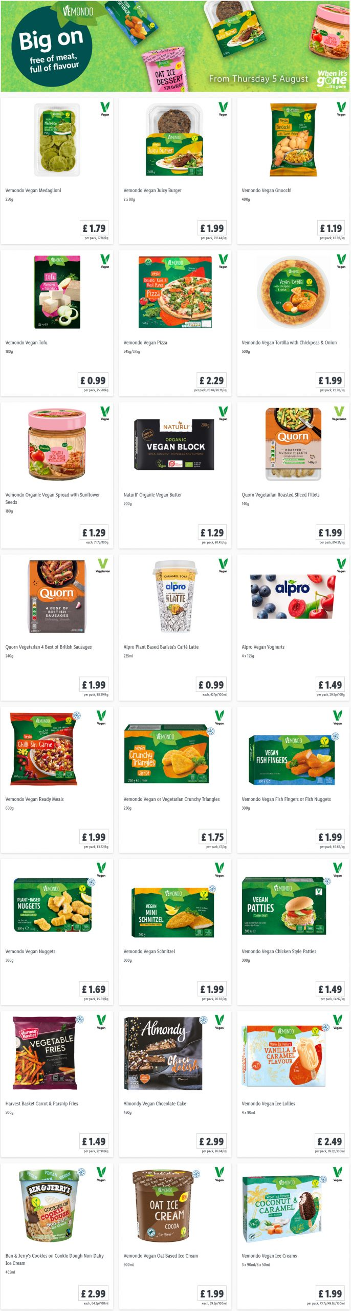 LIDL Offers this Thursday Veggie Week (Meat Free) From 5th August 2021
