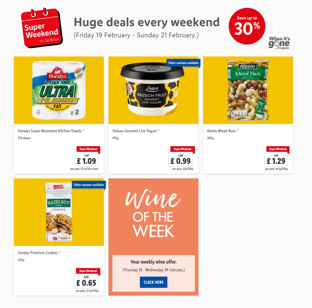 LIDL Weekend Offers from 19th February 2021 LIDL Super Weekend