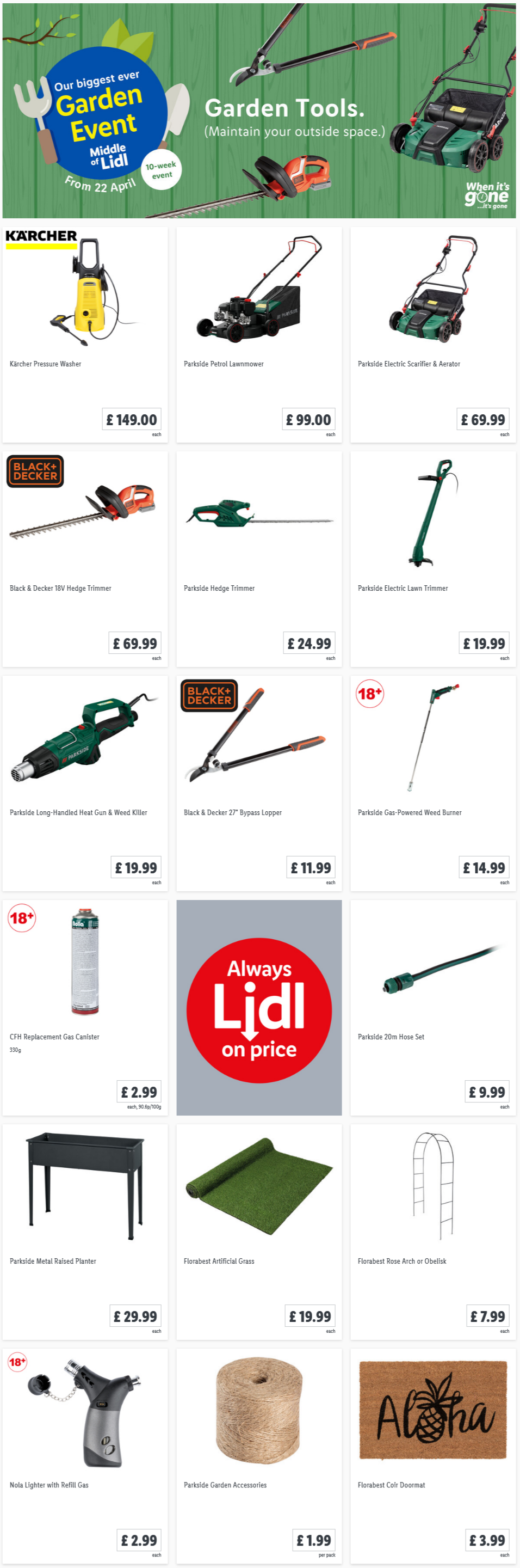 LIDL Offers this Thursday Garden Tools From 22nd April 2021