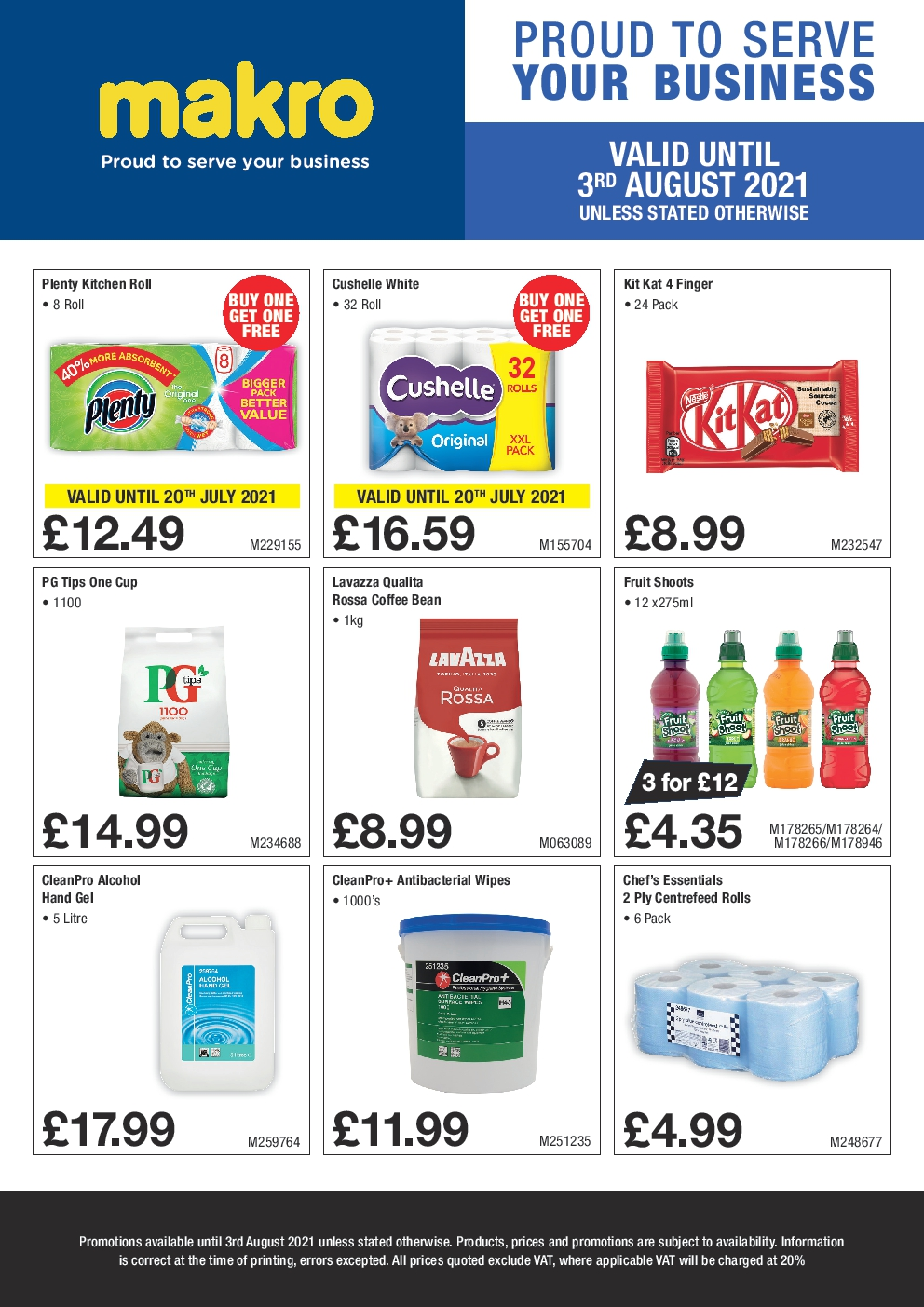 Makro Offers Valid until 3rd August 2021 Professional Cleaning