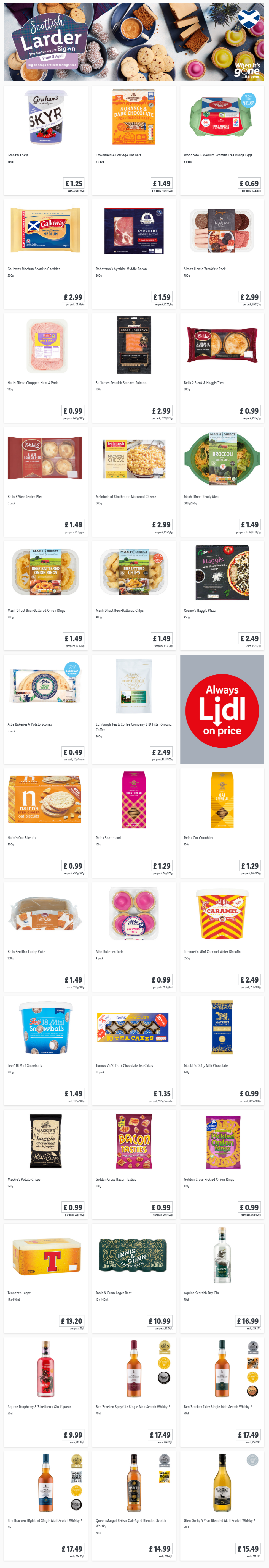 LIDL Offers this Thursday Scottish Larder From 8th April 2021 (Scotland Only)