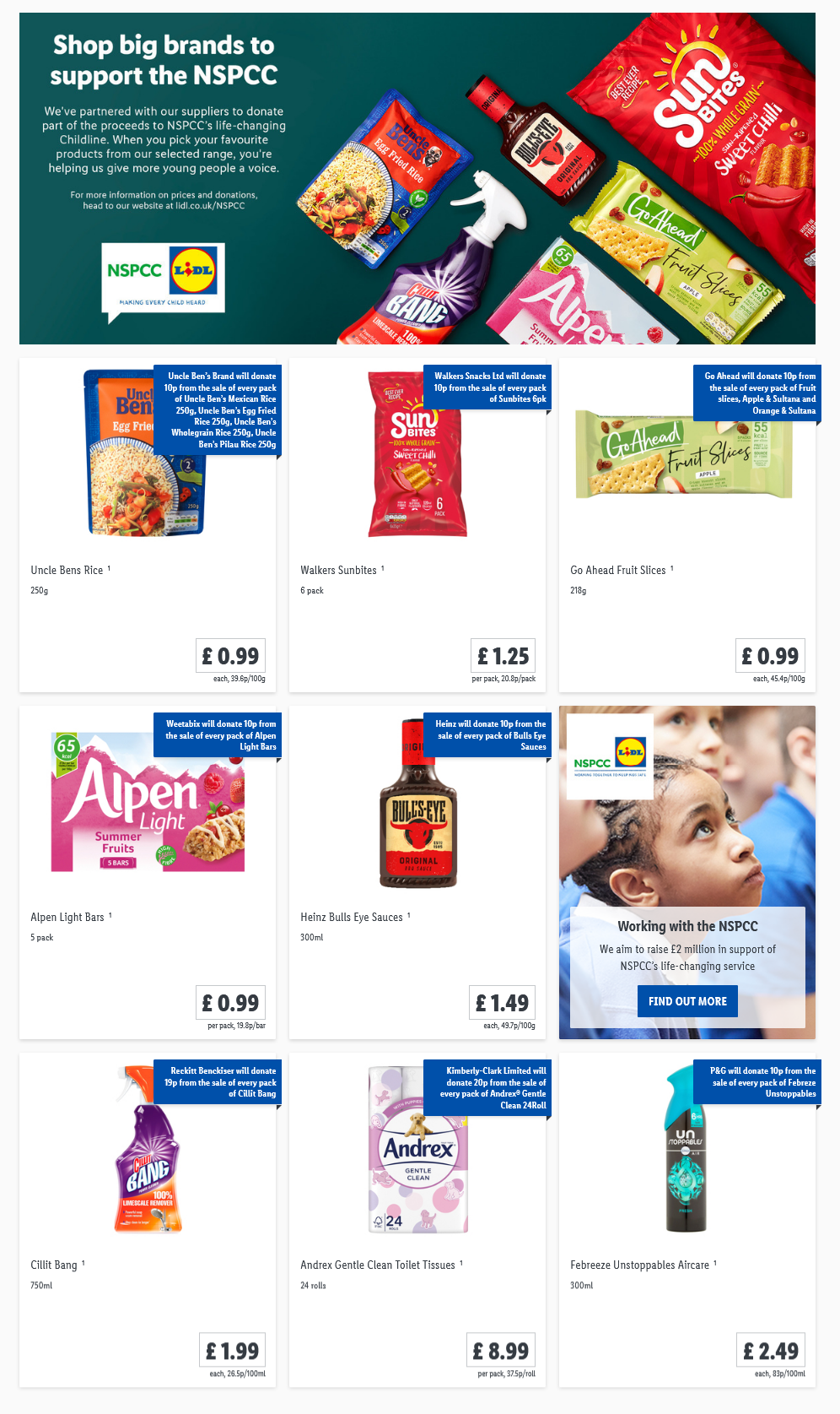 LIDL Offers this Thursday NSPCC From 8th April 2021