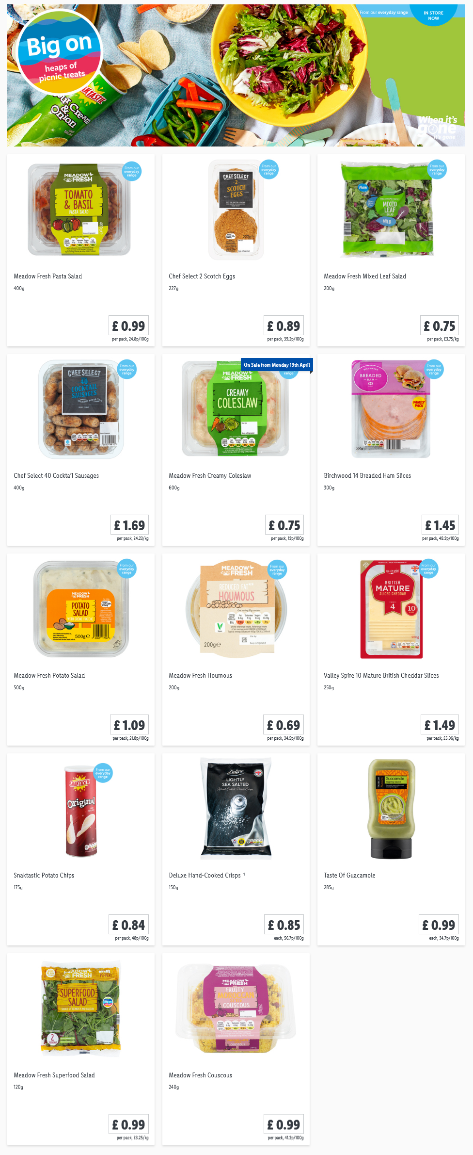LIDL Offers this Thursday Picnic From 8th April 2021
