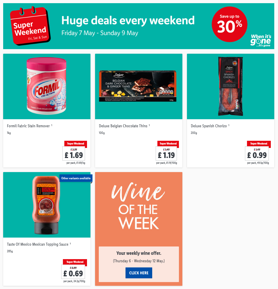 LIDL Weekend Offers from 7th May 2021