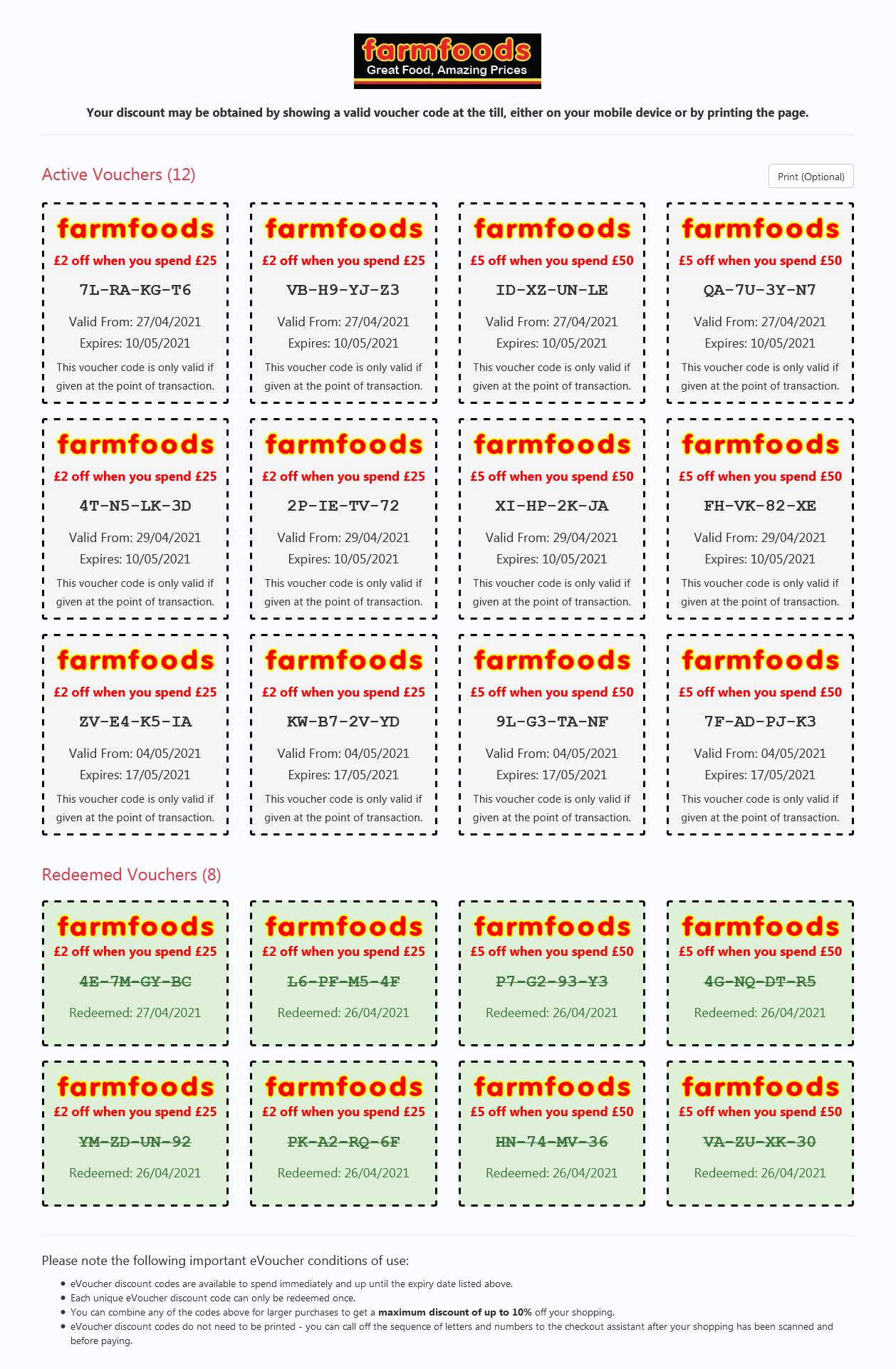 Farmfoods Vouchers this week valid until 17/5/2021