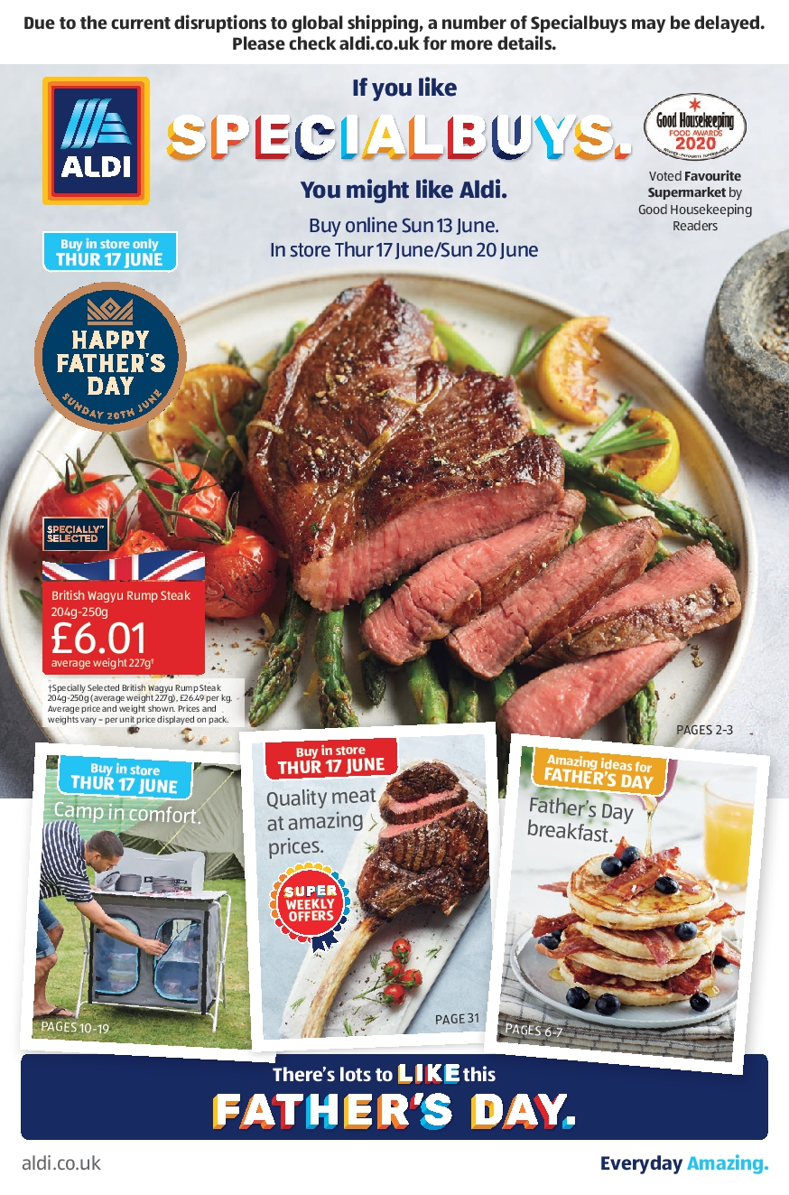Aldi Leaflet Special Buys This Week 13th June - 20th June 2021