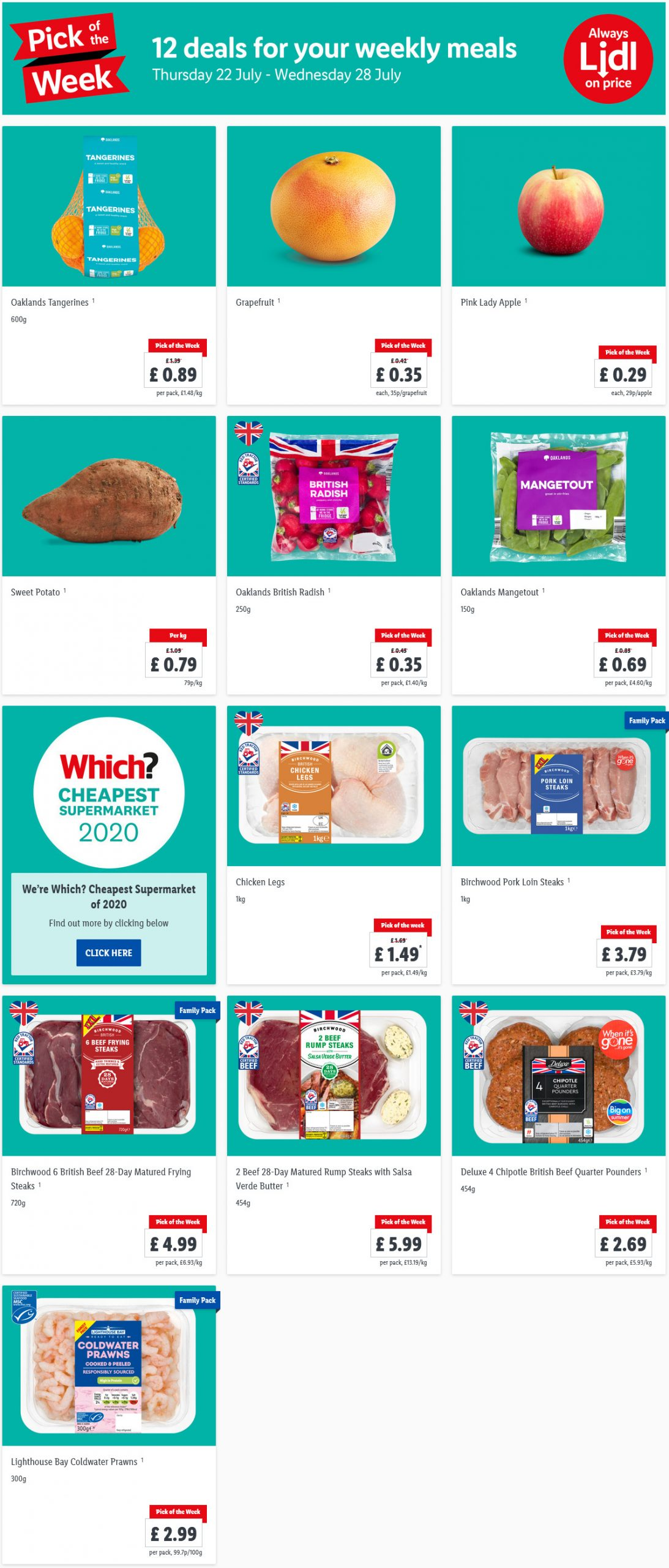 Pick of the week at LIDL 22/7/21 to 28/7/21 Preview