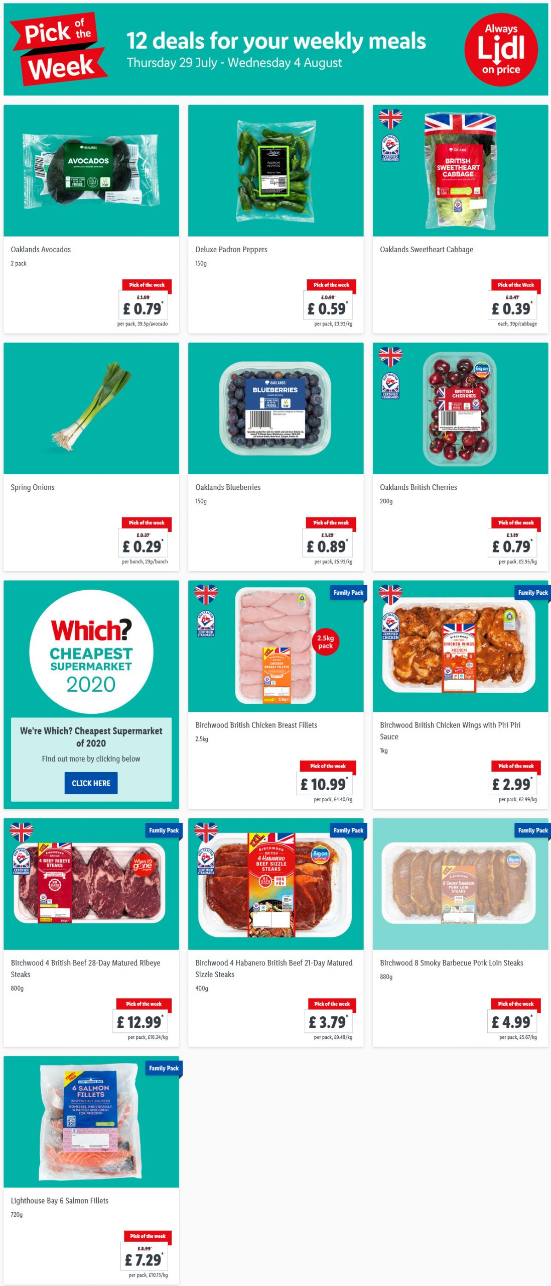 Pick of the week at LIDL 29/7/21 to 4/8/21 Preview
