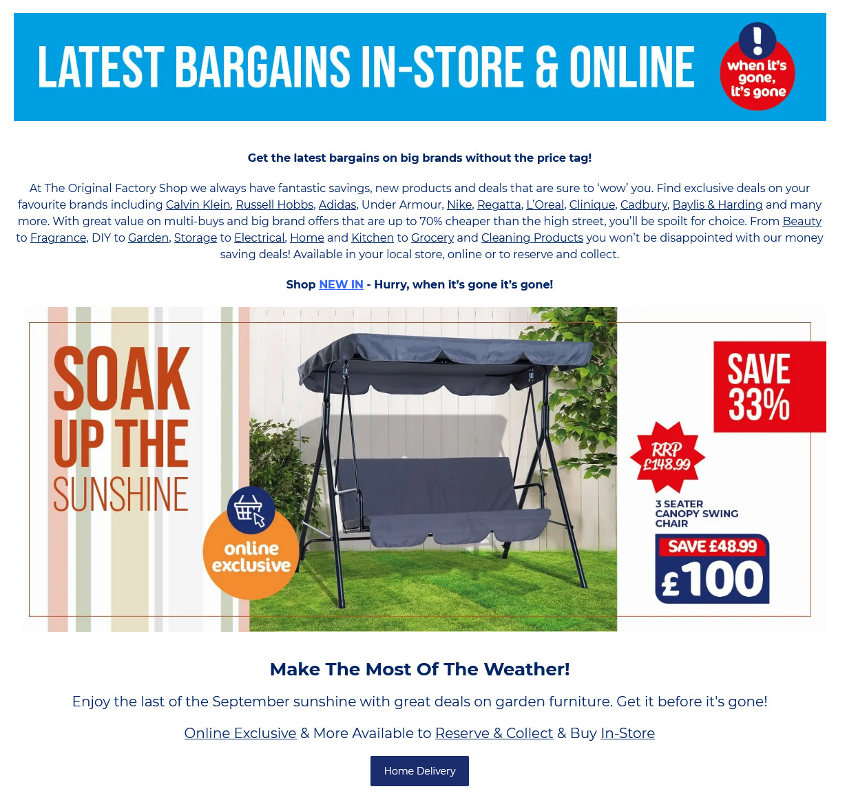 The Original Factory Shop Offers from 17th September 2021 Latest Deals on Big Brands