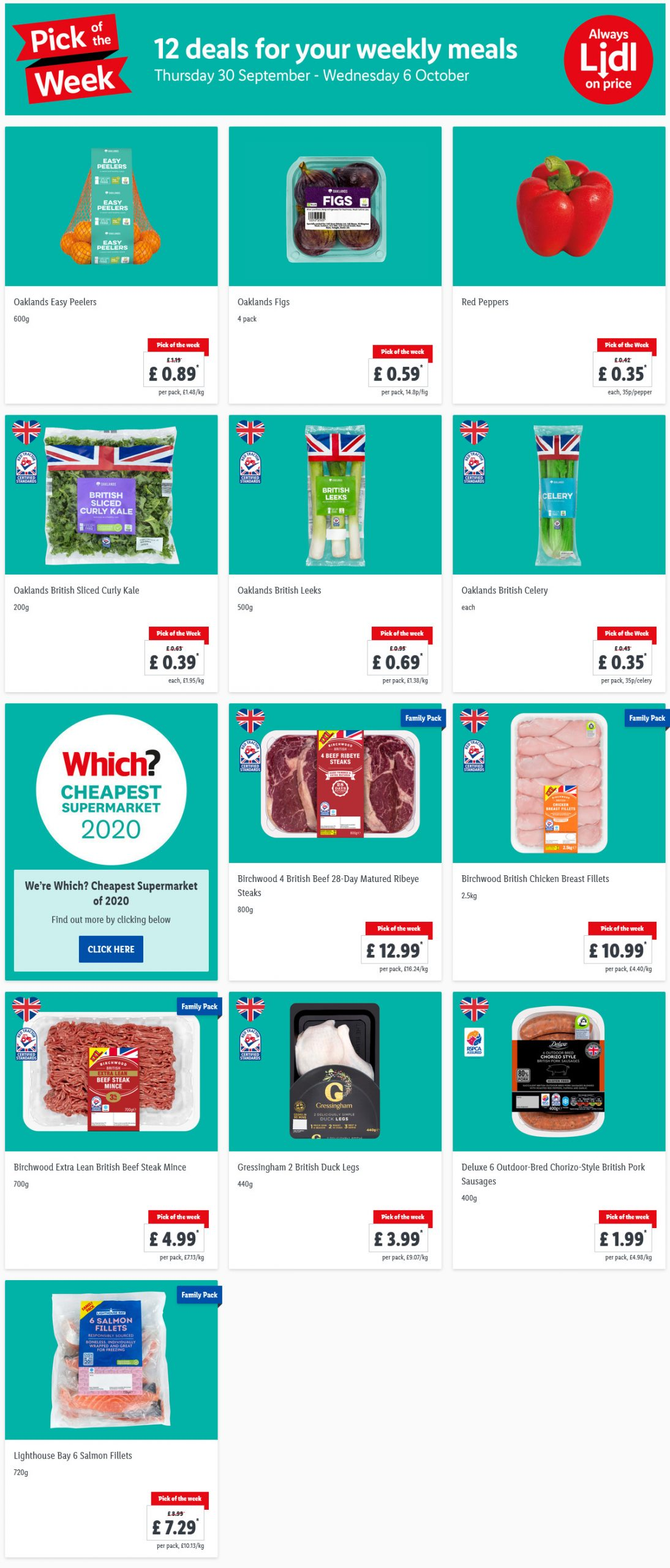 Pick of the week at LIDL 30/9/21 to 6/10/21 Preview