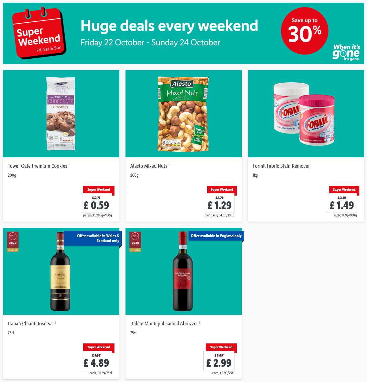 LIDL Weekend Offers from 22nd October – 24th October 2021 LIDL Super Weekend